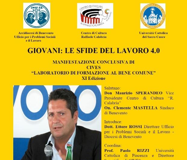 CIVES: conclusioni con Marco Bentivogli della Cisl su giovani e lavoro 4.0