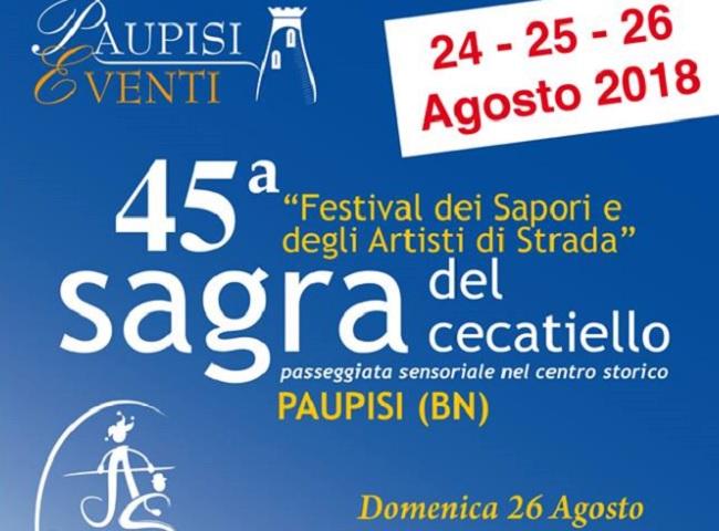 Paupisi: al 45° Festival dei Sapori e degli Artisti di Strada c'è il Palio delle Contrade.