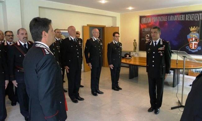 A Benevento il nuovo comandante Maurizio Stefanizzi in visita presso il comando provinciale dei Carabinieri.