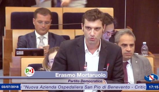 """Ospedali riuniti, Mortaruolo replica in Consiglio: """"La contrapposizione delle strutture è un danno per i cittadini sanniti"""""""