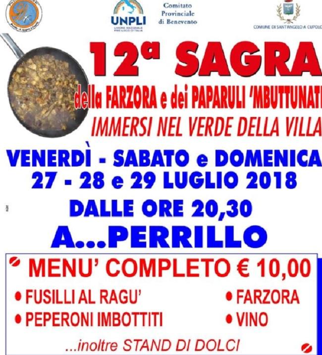 """Sant'Angelo a Cupolo: al via la dodicesima edizione della """"Farzora e dei Paparuli 'Mbuttunati"""""""