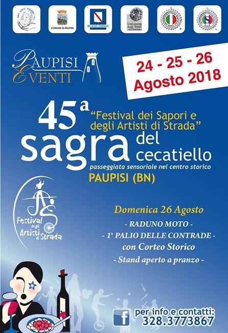"""Al 45° Festival dei Sapori il raduno moto """"Paupisi Bikers' Day""""."""
