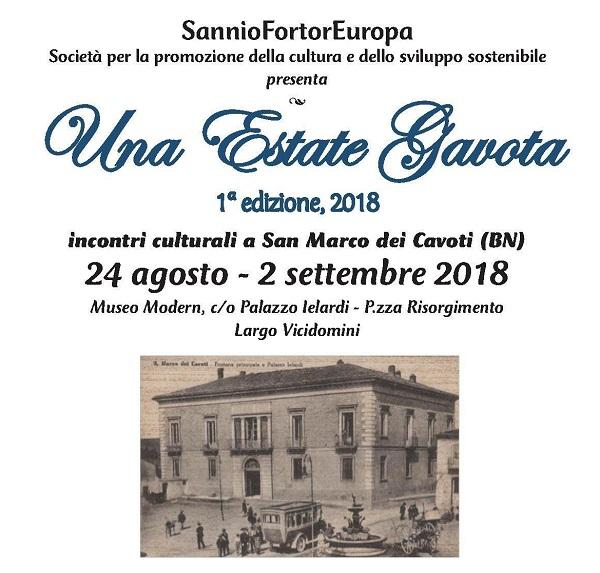 """Al via """"Una estate Gavota"""" a S.Marco promossa dalla società """"SannioFortorEuropa"""""""
