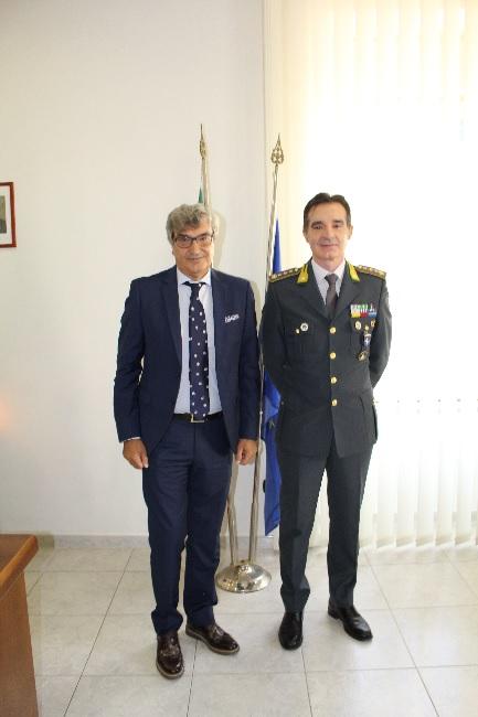 GDF. Il Prefetto Cappetta in visita al Comando Provinciale di Benevento