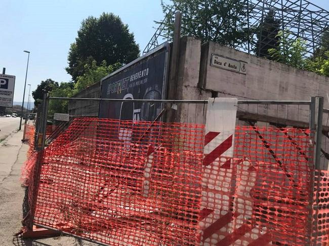 Io X Benevento chiede l'accesso agli atti per la verifica della pericolosità del muro del campo CONI