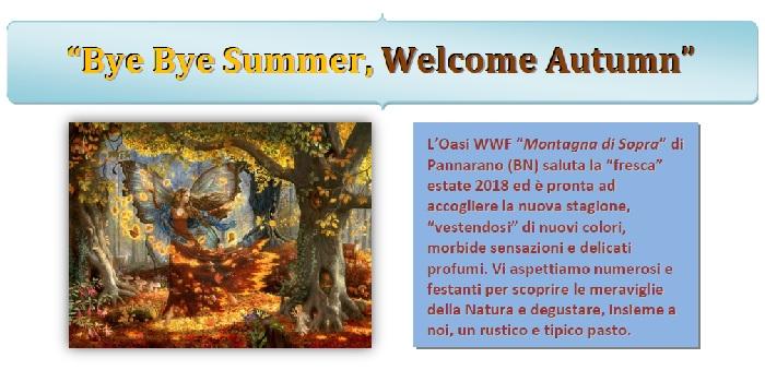 Oasi WWF di Pannarano. Domenica 23 Settembre il saluto all'estate