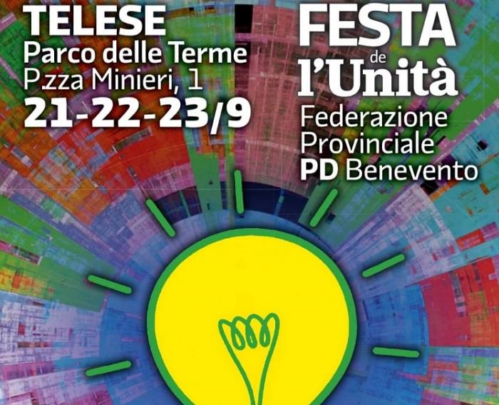 Domani 21 settembre a Telese Terme al via la Festa Provinciale de l'Unità