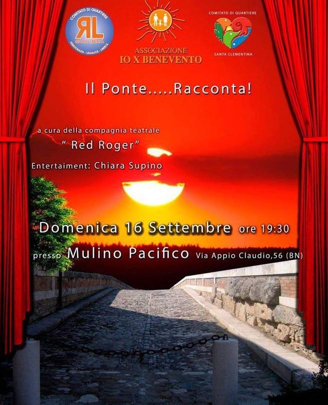 """""""Il Ponte racconta"""", domenica 16 Settembre al Mulino Pacifico"""