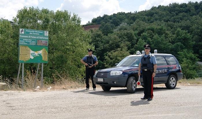 Benevento: 10 persone denunciate nei controlli dei Carabinieri in Valfortore.