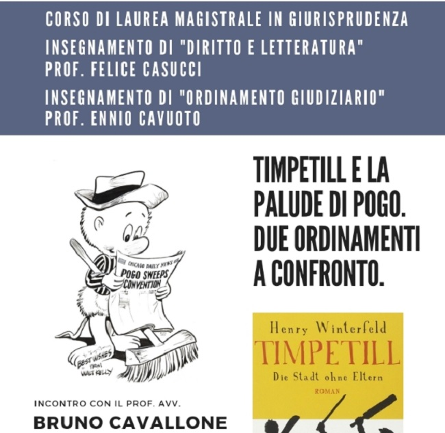 Giurisprudenza Unisannio Per Diritto e Letteratura e Ordinamento giudiziario l'intervento del prof. Bruno Cavallone