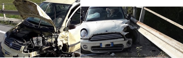 Incidente stradale lungo l'Appia. Cinque i feriti.