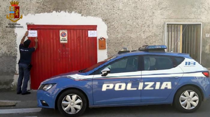 Telese Terme, la Polizia di Stato sequestra officina abusiva in pieno centro.