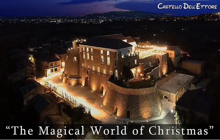"""Apice Vecchia: il Castello dell'Ettore ospita l'evento natalizio """"The Magical World of Christmas"""" e mercatino di Natale."""