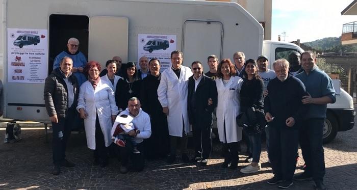 """AFMAL. Prosegue il tour del Camper della salute """"OASI DELLA SALUTE""""."""