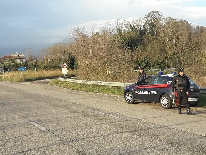 Controlli dei Carabinieri in Valle Telesina
