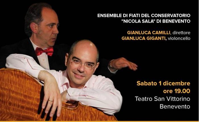 Sabato 1 dicembre al Teatro San Vittorino: concerto diretto dal M° Gianluca Camilli.