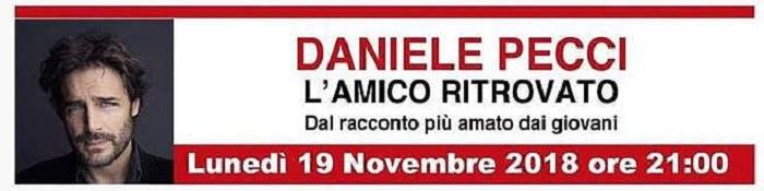 """Invito A Teatro Daniele Pecci in: """"L'amico ritrovato""""."""