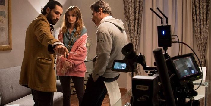 A Dugenta e Casapesenna le riprese di 'The Noisy Silence'.Con Giuseppe Zeno, Quentin Faure, Jenna Thiam e Gaia Bermani