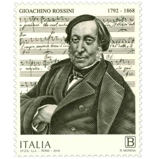 Poste Italiane: dal Ministero dello Sviluppo Economico un francobollo dedicato a Gioachino Rossini