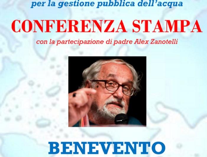 Benevento verso il referendum comunale per la gestione pubblica dell'acqua.Il 9 Novembre Conferenza stampa.