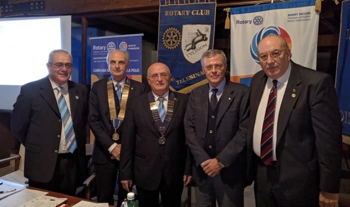 Visita del Governatore Salvatore Iovieno al Club Rotary Valle Telesina