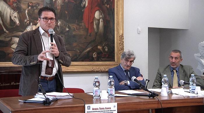 """La Provincia al Convegno di Protezione Civile """"Acqua, Terra, Fuoco""""."""