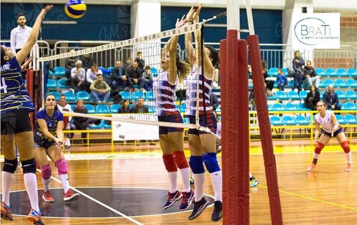 La BraTi Formazione SG Volley si arrende alla capolista.