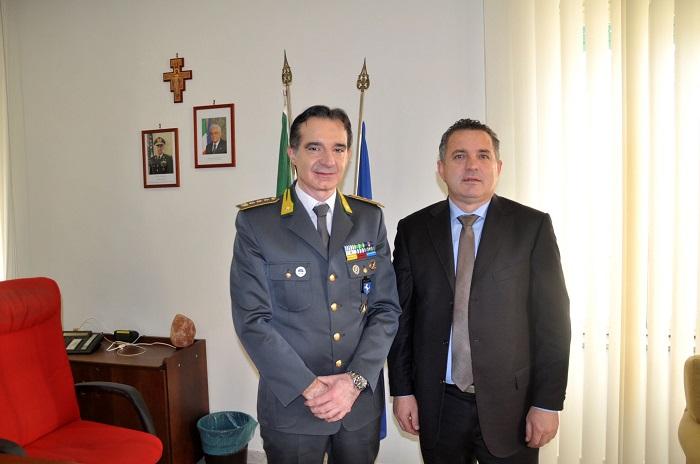 Di Maria in visita alla Guardia di Finanza, Carabinieri e Vigili del Fuoco