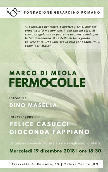 """Alla Fondazione Gerardino Romano, Presentazione del libro """"Fermocolle"""""""