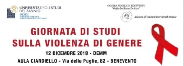 All'Università del Sannio, il 12 Dicembre: Giornata di Studi sulla Violenza di Genere