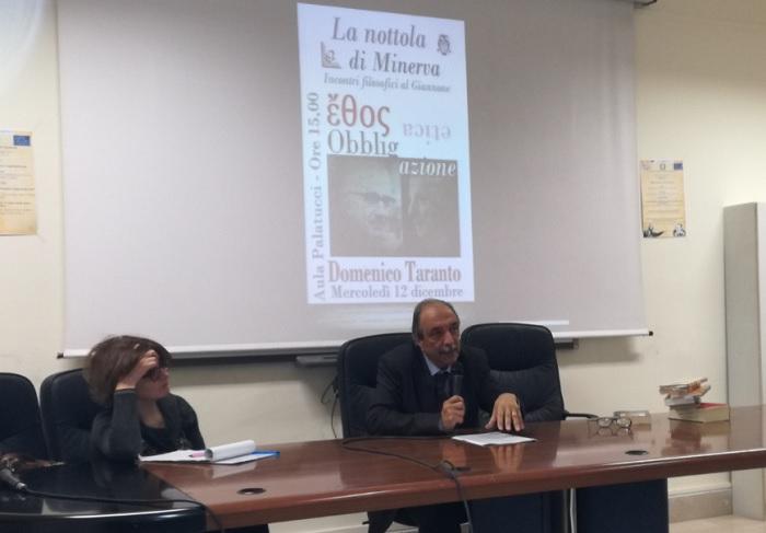 """Incontri Filosofici. Conclusa la prima edizione de """"La nottola di Minerva"""" con il Prof. Domenico Taranto."""