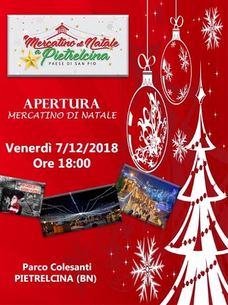 Pietrelcina: Ritorna anche quest'anno la magia del Mercatino di Natale