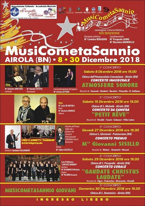 MusiCometaSannio fa tappa a Pannarano. Concerto omaggio al m°. Giovanni Sisillo