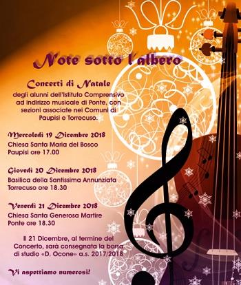 Note Sotto l'Albero.I concerti dell'istituto comprensivo ad indirizzo musicale di Ponte.