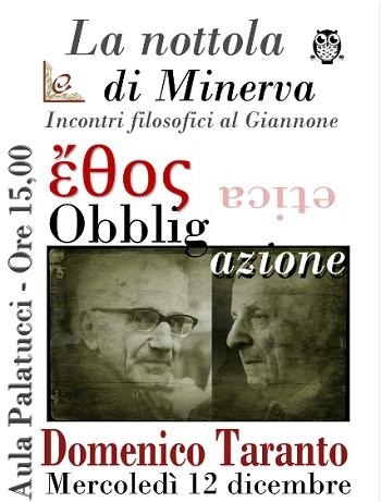 """Ciclo filosofico """"La nottola di Minerva"""". Al Liceo Classico P.Giannone Domenico Taranto (ultimo incontro)"""