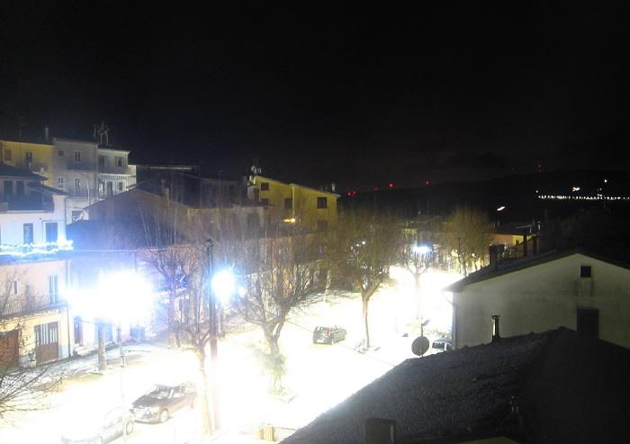 San Bartolomeo in Galdo imbiancato. Arriva la prima neve