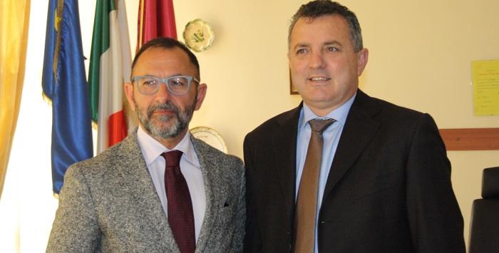 Il Presidente della Provincia Antonio Di Maria incontra il Questore Bellassai.