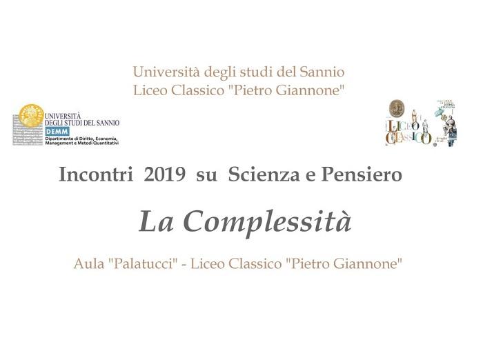 Scienza e pensiero: nuovo ciclo di conferenze-dibattito del Liceo Giannone e dell'Unisannio