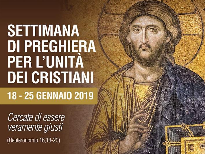 La Settimana di preghiera per l'unità dei cristiani si celebra dal 18 al 25 gennaio.
