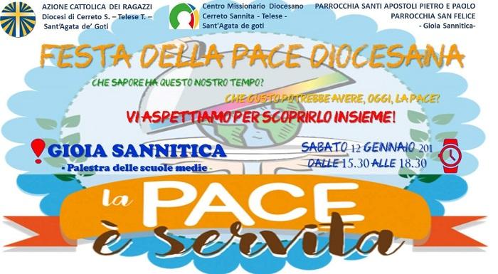 Acr, sabato 12 Gennaio a Gioia Sannitica la Festa della Pace diocesana.