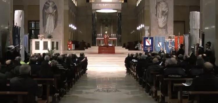 Benevento. Nella cattedrale la Polizia Locale ha festeggiato il Santo Patrono : San Sebastiano
