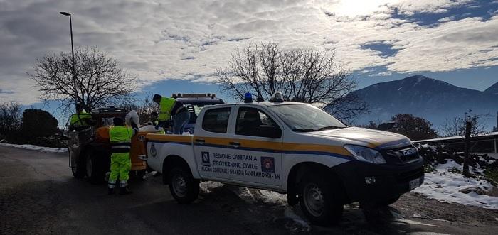 Emergenza Neve: il sindaco Floriano Panza ringrazia i volontari del nucleo di Protezione Civile.