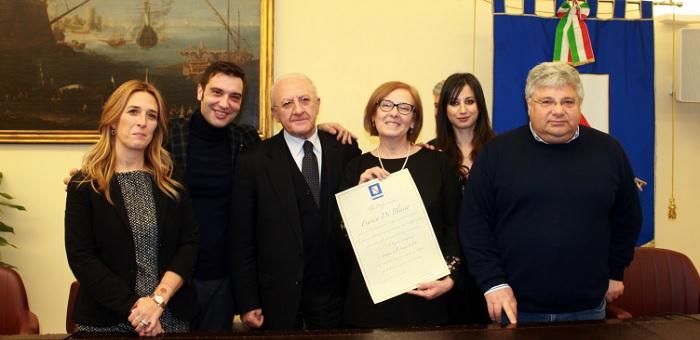 Franca Di Blasio è la donna dell'anno 2018 anche per la Regione Campania.