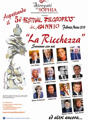 """L'Associazione culturale """"Stregati da Sophia"""" Presenta il 5° Festival Filosofico del Sannio"""