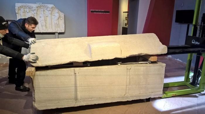 Trasferiti all'Arcidiocesi i Manufatti Marmorei in Deposito al Museo del Sannio.