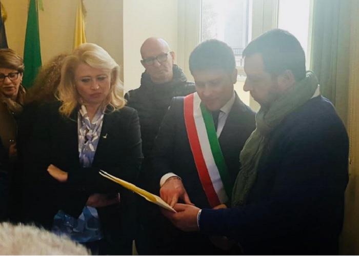 Francesco Rubano ricevuto ad Afragola dal Ministro Salvini e Pina Castiello.