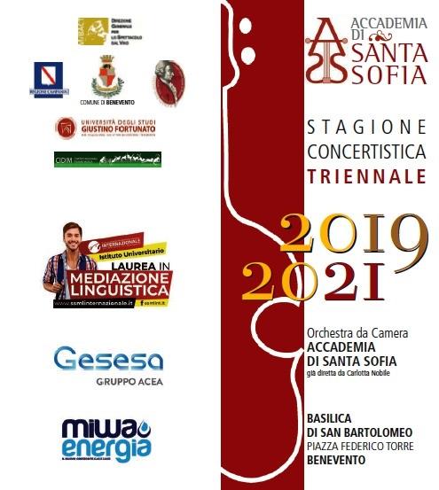 """Accademia Santa Sofia. Lunedì la presentazione della """"Stagione Concertistica 2019-2021"""""""