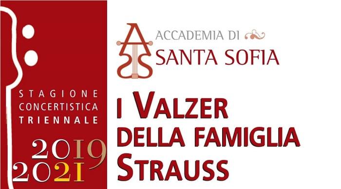 """Stagione concertistica Accademia di Santa Sofia: sabato esordio con """"I Valzer della Famiglia Strauss"""""""