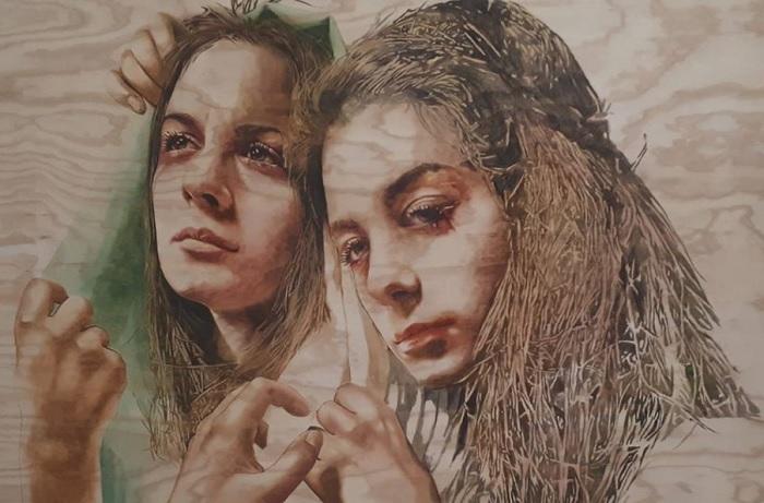 """Museo Arcos: vermissage della mostra """"Donne"""" con opere di Vishka e Amir Sabet Azar."""