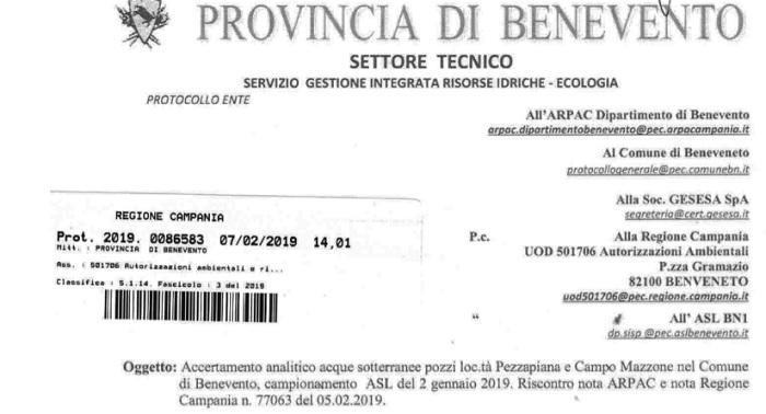 Tetracloroetilene nell'acqua, Altrabenevento invia lettera aperta al Ministro dell'Ambiente Sergio Costa.